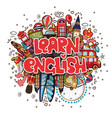 learn english educational and travelling concept vector image vector image