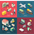 Logistics Concept Icons Set vector image vector image