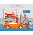 Mechanical Services Of Car vector image vector image