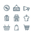 media marketing set icons vector image