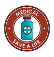 medicine bottle isolated icon vector image