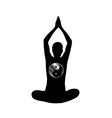 Meditation logo vector image vector image