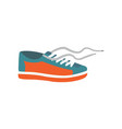 mens shoe in cartoon style vector image vector image