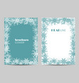 modern brochure cover design with winter pattern vector image