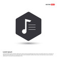 music note icon hexa white background icon vector image