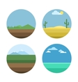 Nature background set vector image