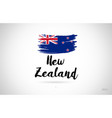 new zealand country flag concept with grunge vector image