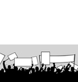 of people protesting vector image