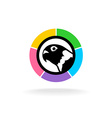 Parrot head logo vector image