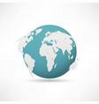 planet earth icon vector image vector image