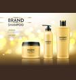 realistic spa cream tube dry shampoo bottle vector image vector image