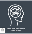 release negative thoughts vector image