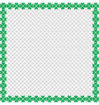 saint patricks day border with clover on vector image vector image