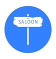 Saloon icon black Singe western icon from the vector image vector image