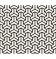Seamless Black And White Geometric Grid vector image