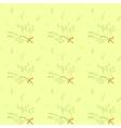 Seamless pattern with light green herbs ang ribbon vector image