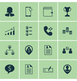 set 16 hr icons includes employee location vector image vector image