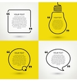 set quote text frames format vector image
