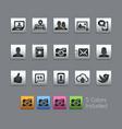 social icons - satinbox series vector image vector image