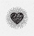 sparkling heart lettering vector image