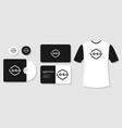 stationery mockup design branding template vector image
