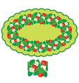 strawberry oval frame 380 vector image