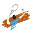 tennis player icon vector image