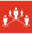 The teamwork icon Leadership and connection vector image vector image