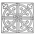 tiles square panel in the cistercian monastery in vector image vector image