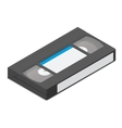 Video cassette detailed isometric icon vector image vector image