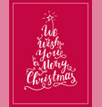 we wish you a merry christmas lettering text vector image vector image