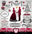 Wedding Day background ornaments set vector image vector image