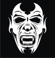 White Vampire Face vector image vector image
