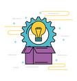 idea creativity innovation solution work concept vector image