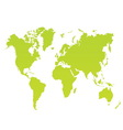 modern color world map on white background vector image