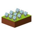 set panel solar isolated icon design vector image