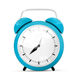 Blue Alarm Clock Isolated on White Background vector image