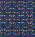 seamless background butterfly pattern vector image