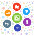 7 spot icons vector image vector image