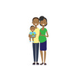 african pregnant mother father hold baby son full vector image