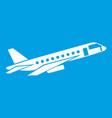 airplane taking off icon white