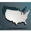 America paper map jigsaw vector image vector image