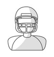 american football player avatar vector image vector image