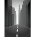 an empty city street vector image vector image