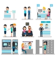 Bank People Flat Collection vector image
