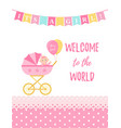 bashower card design birthday party background vector image vector image