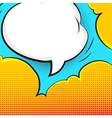 Blank bubble talk in pop art style vector image