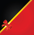 bow red card vector image vector image