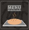 breakfast menu design vector image vector image