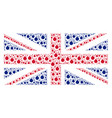 british flag mosaic of bomb icons vector image